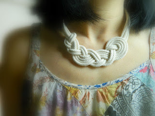 cotton rope necklace second anniversary gift