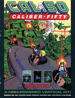 Cali.50+Caliber Fifty +arcade+game+portable+retro+run&gun+art+flyer