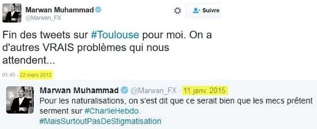 Marwan Muhammad, ex porte parole du CCIF, en fonction à la rédaction de ces tweets