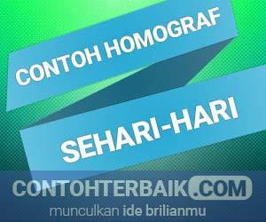 3 Contoh Homograf Dalamkehidupan Sehari Hari Smansa Edu