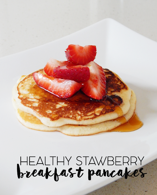 Healthy Strawberry Pancakes - empowered internet women
