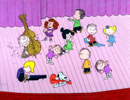 The rehearsal in A Charlie Brown Christmas 1965 animatedfilmreviews.blogspot.com