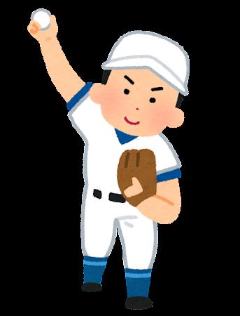 野球のピッチャーのイラスト(オーバースロー)