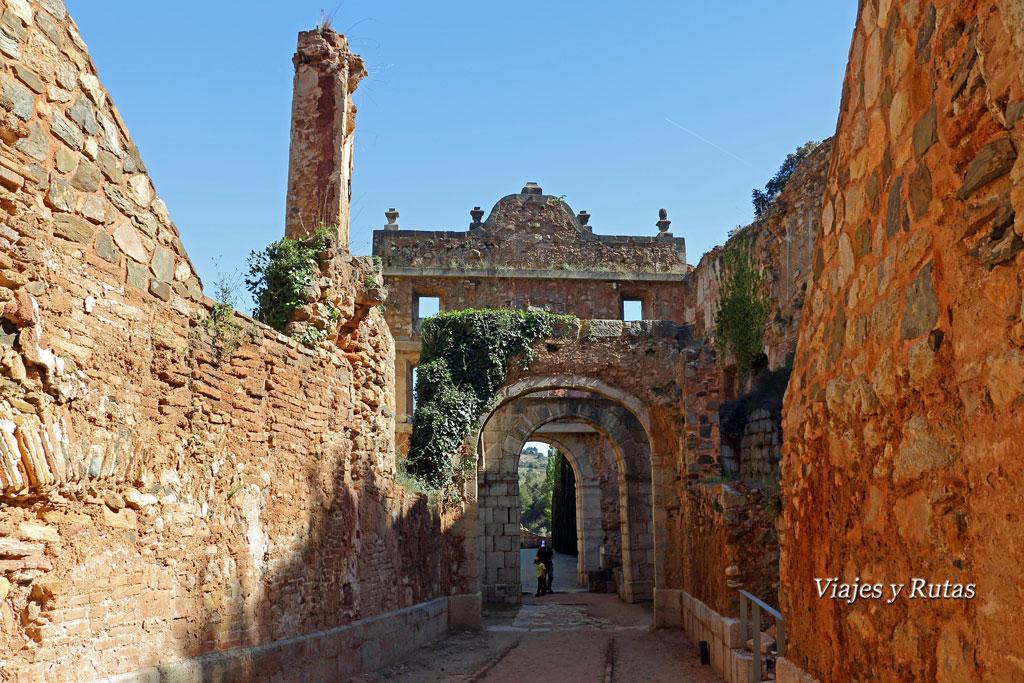 Zonas de las ruinas de la Cartuja de Escaladei, Tarragona