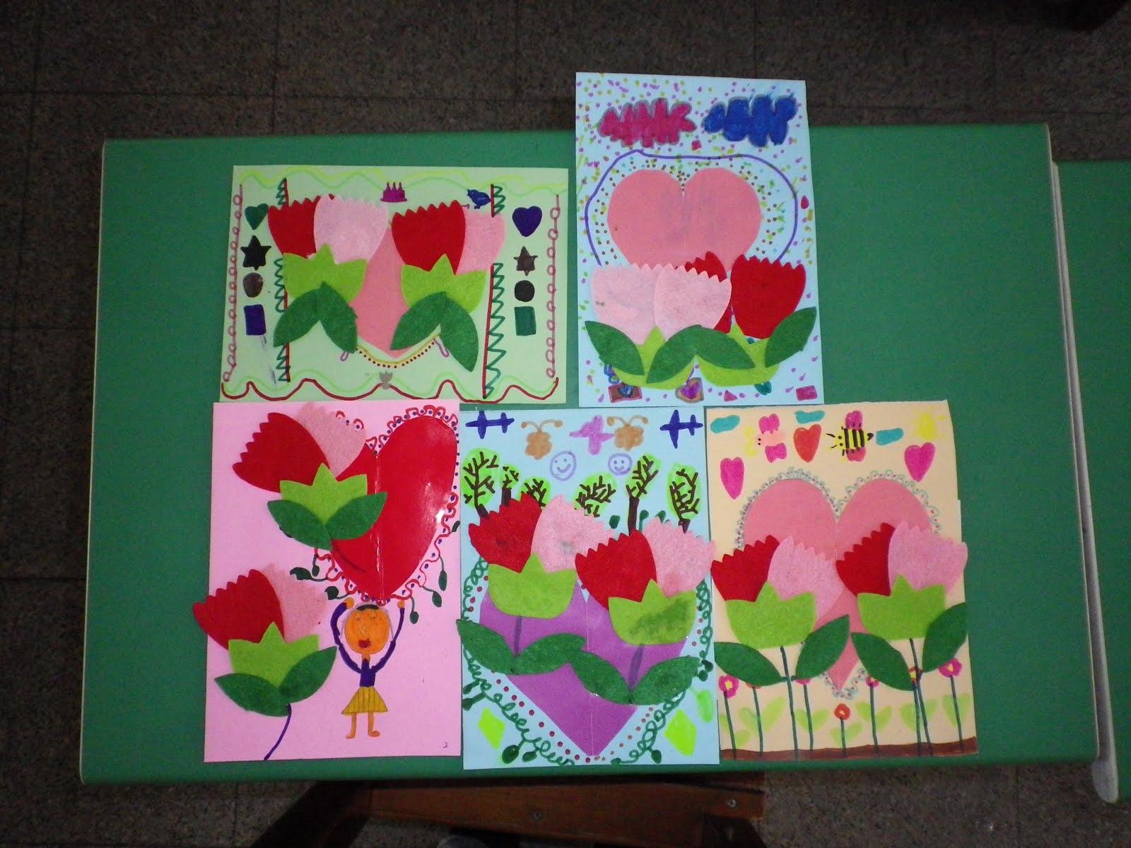 純玉老師的班: 美勞作品展示─母親節卡片製作