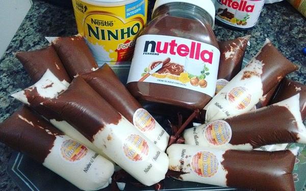 Gelinho Cremoso Recheado Com Nutella (Imagem: Reprodução/Desapega.net)