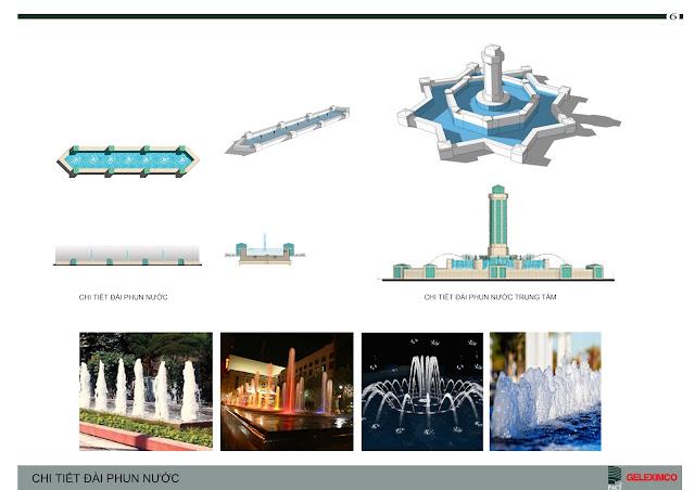Thiết kế đài phun nước tại trung tâm công viên - The Green Daisy