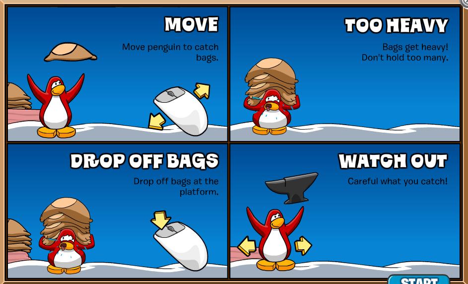 L Club Penguin Cheats MOVE Move penguin to catch