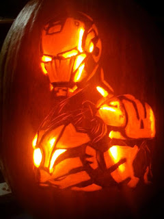 iron man pumpkins halloween carving fruit art