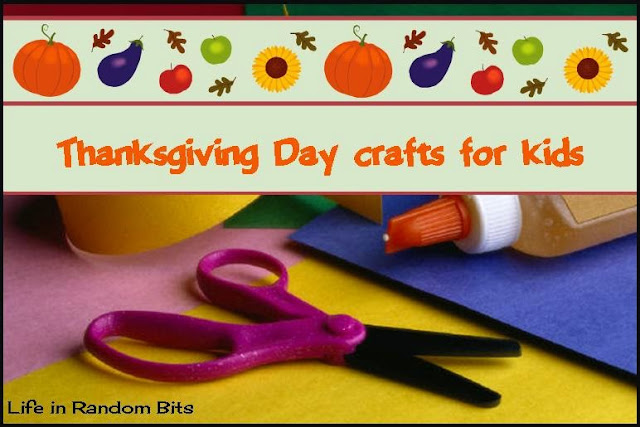 Thanksgiving crafts for kids: get the kids involved in decorating your Thanksgiving table ~ Life in Random Bits #thanksgiving #kids #crafts
