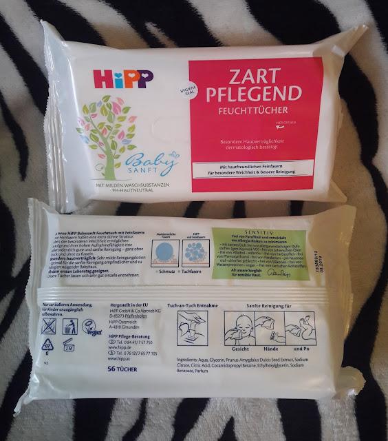 HiPP zart pflegend feuchttücher chusteczki pielęgnacyjne dla niemowląt nowa wersja