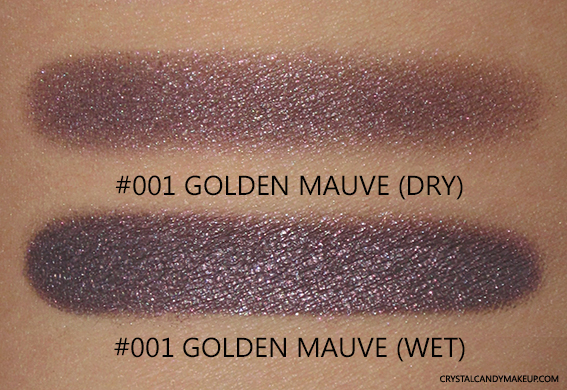 PUPA Vamp Wet Dry Eyeshadow 001 Golden Mauve Review Swatch