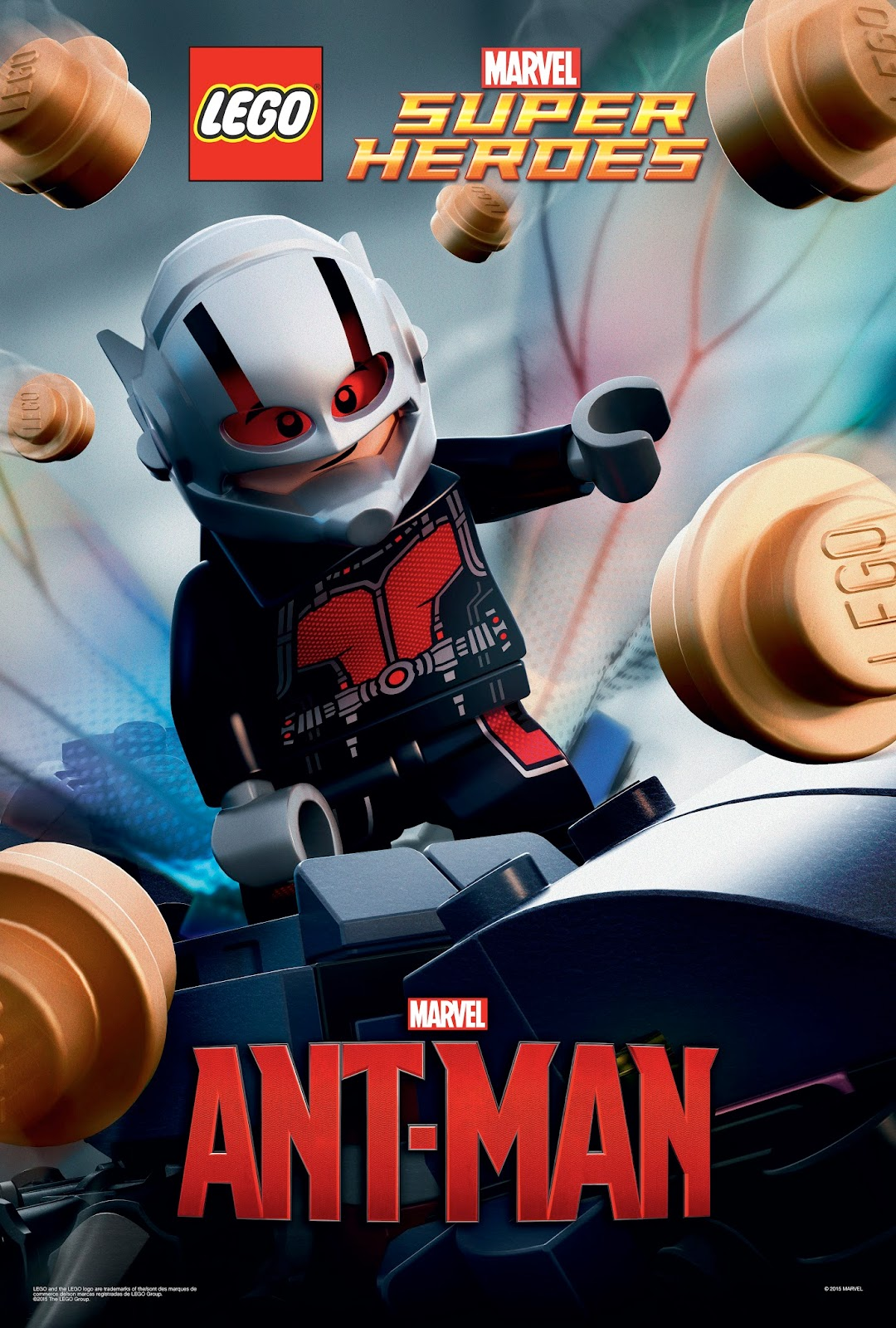 Sasaki Time Marvel S Ant Man Poster In Lego Bricks