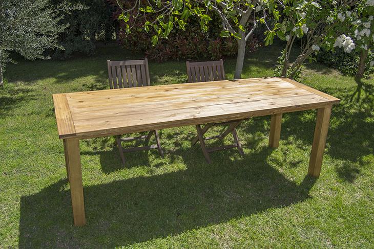Oro y menta como hacer una mesa de comedor de exterior diy for Muebles etxeberria