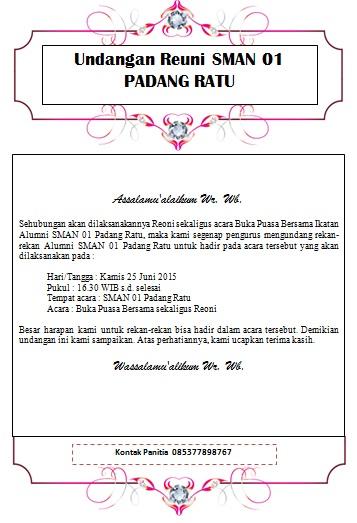 Download Undangan Reuni Word Doc Salamun Picassa