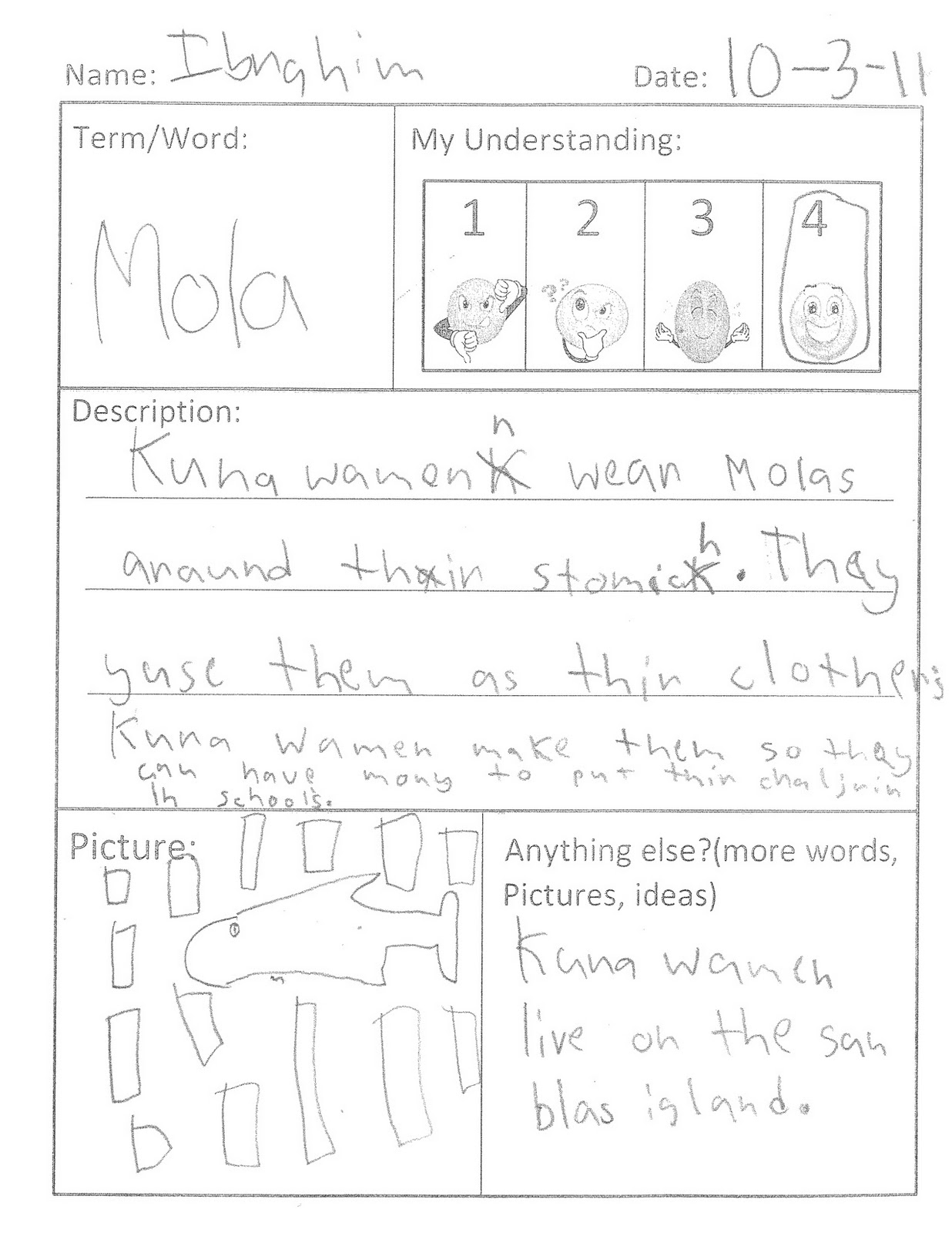 Repetition Worksheet Elementary