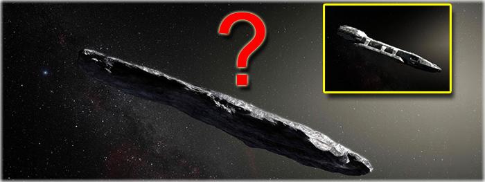 asteroide Oumuamua pode ser uma nave alienigena?