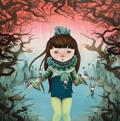 """Sembahyang Subuh"" - Ivana Flores | creative emotional paintings, cool stuff, pictures, deep feelings, sad | obras de arte contemporaneo, cuadros, imagenes de pinturas tristes bonitas chidas, depresion | peintures"