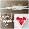 Jaring Balon Bentuk Hati / Love