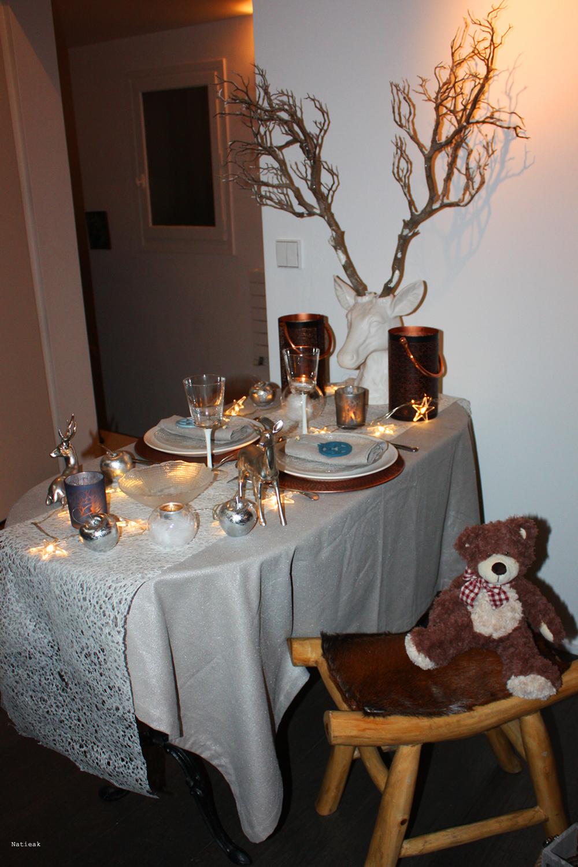 décoration de Noël pour la table