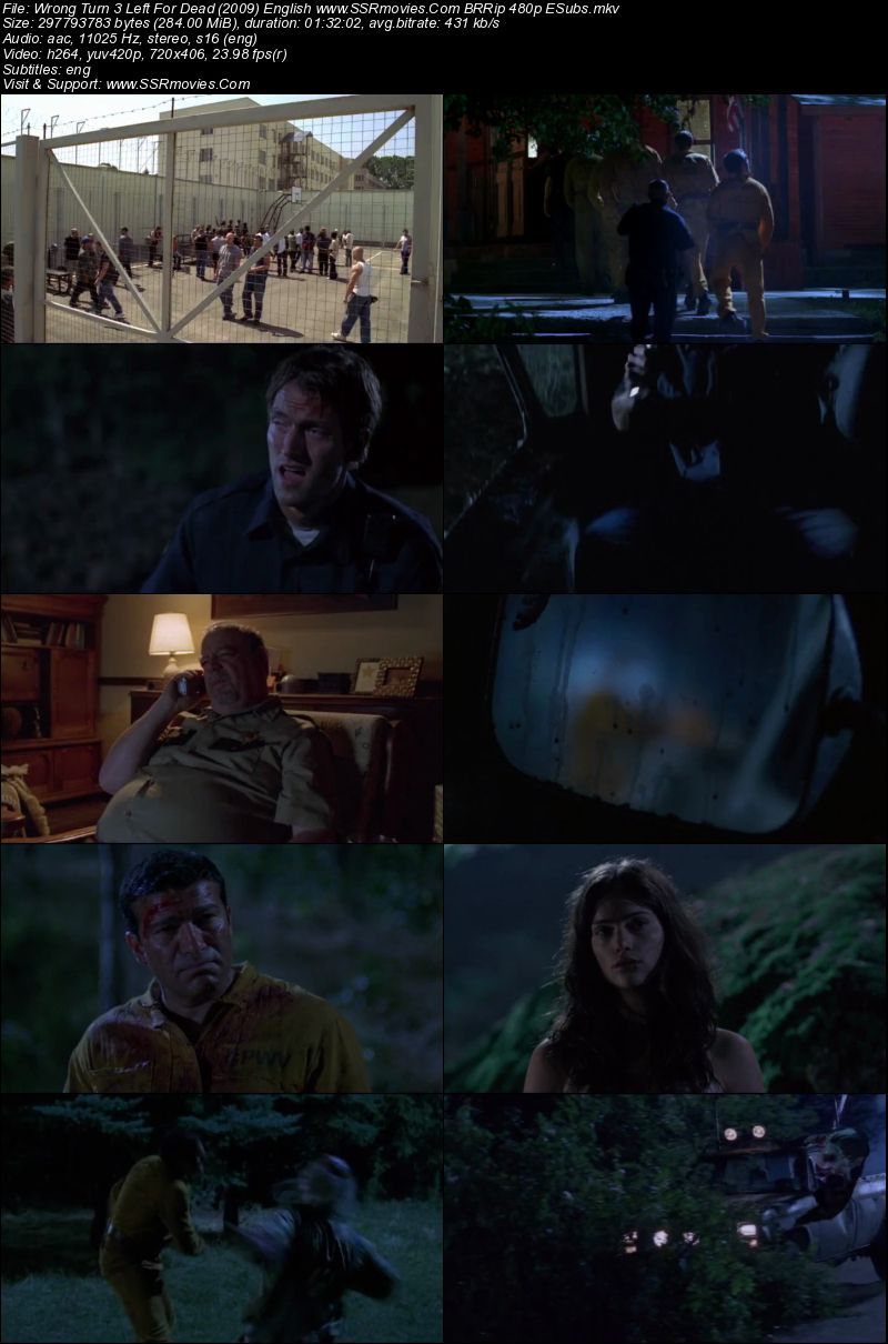 Wrong Turn 3 (2009) English BRRip 480p 300MB ESubs | SSR Movies