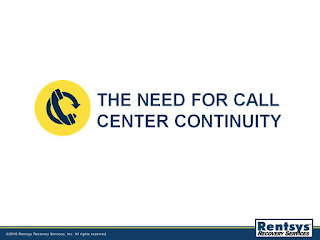 The Need for Call Center Continuity slide