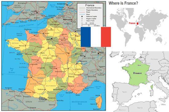 peta dan profil negara perancis