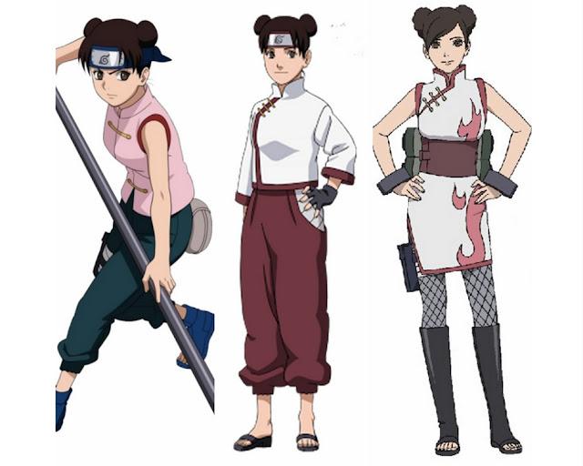 Tenten-evolução-anime-Naruto