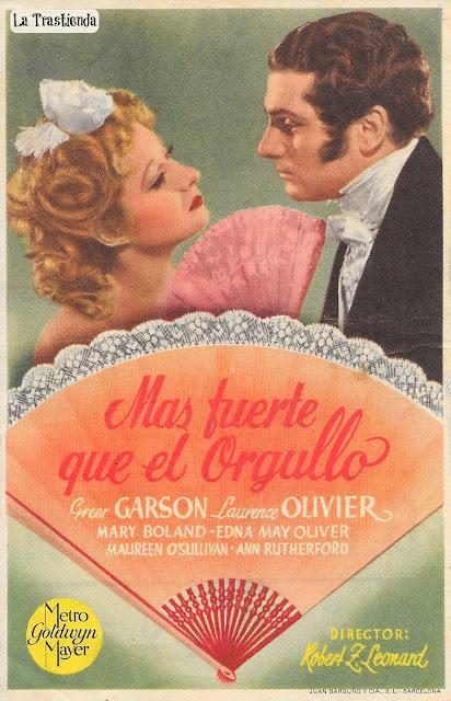 Programa de Cine - Más Fuerte Que El Orgullo - Greer Garson - Laurence Olivier