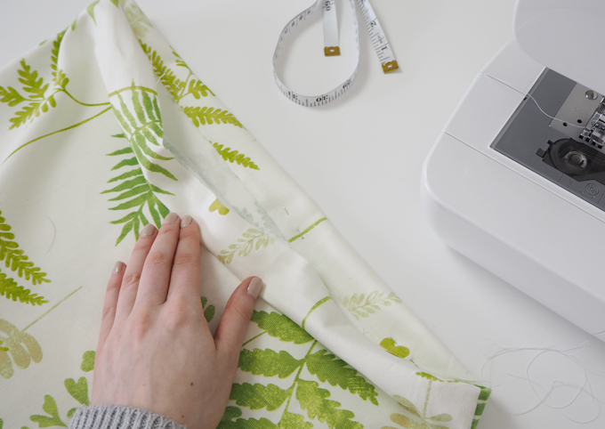 How to make a botanical cushion finishing off