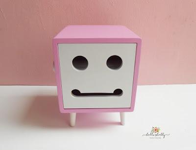 perlengkapan dapur tissue box ted shabby chic