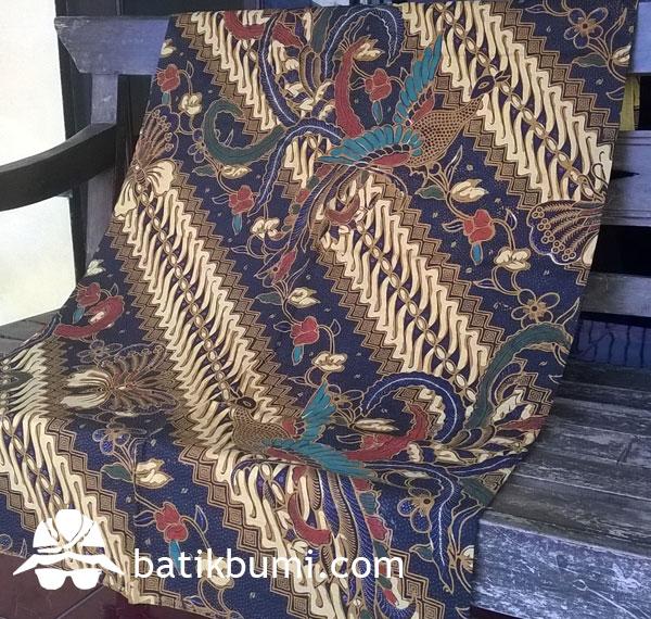 Kain Batik Cap Tolet motif Parang Seling Burung