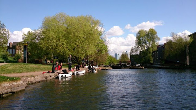 Canoeing by Mile End Park
