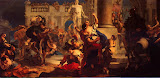 Rape of the Sabine Women by Giovanni Battista Tiepolo - History Paintings from Hermitage Museum