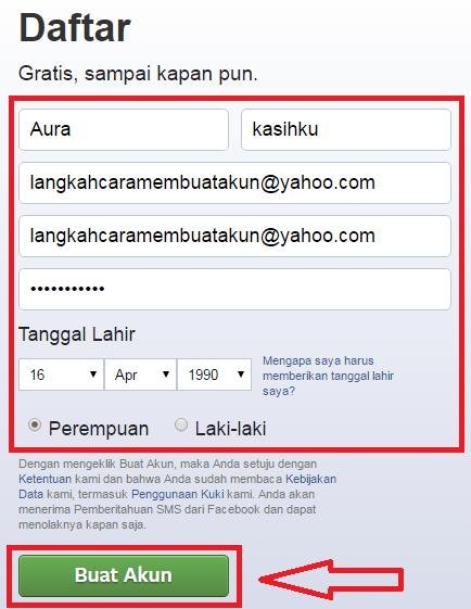 Cara Mendaftar Facebook Dengan Email   Daftar Facebook