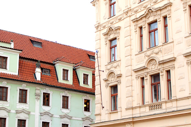 Beautiful buildings in Prague Old Town, Czech Republic - Europe travel blog