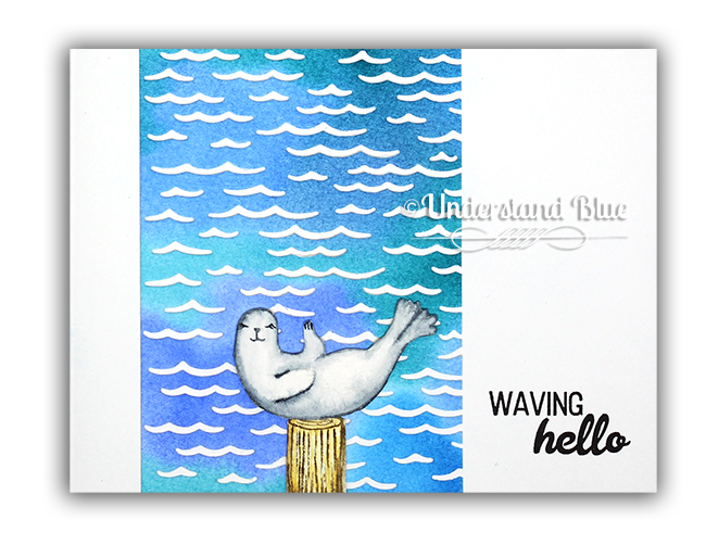 Relaxed seal card by Understand Blue