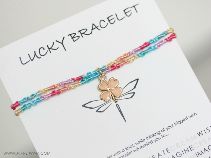 Melz lucky bracelet pastel colors and clover charm