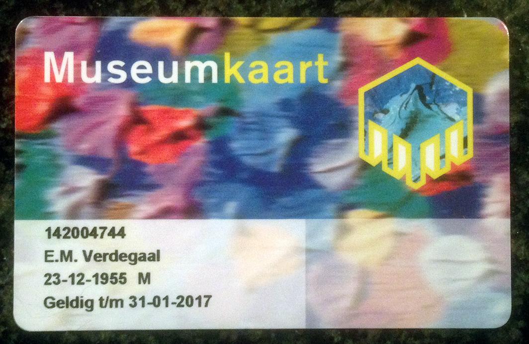 museum jaar kaart Mijn museumjaarkaart: 20/1/16   Mijn allereerste Museumjaarkaart museum jaar kaart