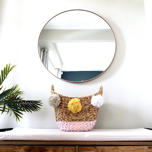 DIY Paint Dipped Basket with Spray Paint
