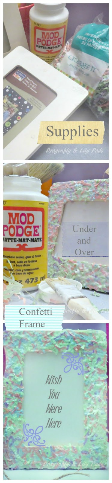 Pinterest Image for Summer Fun Kids Series, Mod Podge Picture Frame Gift, Baby, Directions