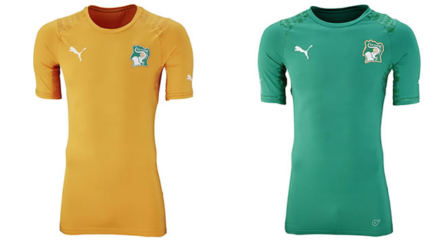Camisetas selección Costa de Marfil Mundial 2014
