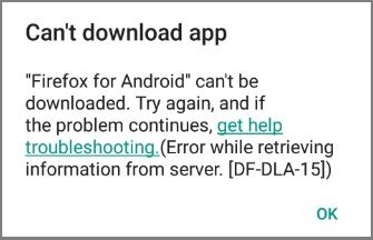 Play Store Error DF-DLA-15 While Downloading Apps