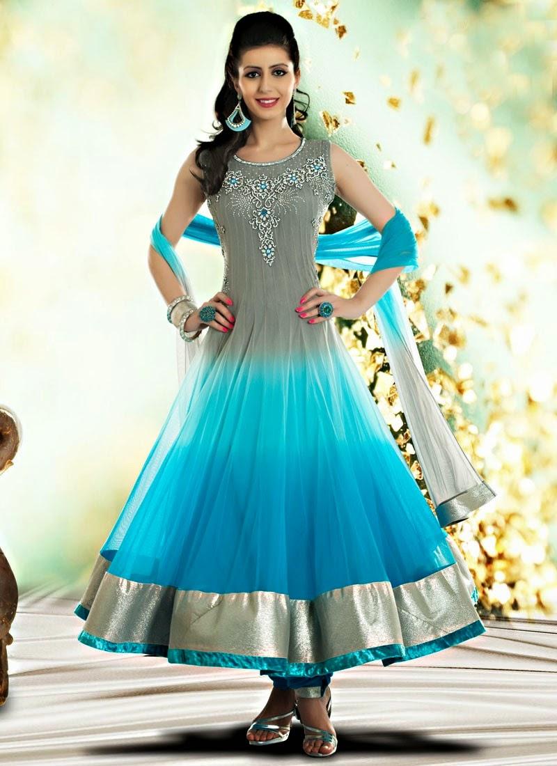 Indian Royal Wedding Wear Long Anarkali Dresses 2014