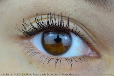 Tragebild: L'Oréal Paris False Lash Superstar X-Fiber Mascara