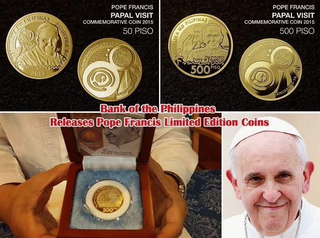 Bank of the Philippines Releases Pope Francis Limited Edition Coins
