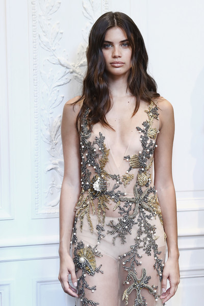 Sara Sampaio walks the Alberta Ferretti Haute Couture Show Fall/Winter 2016.