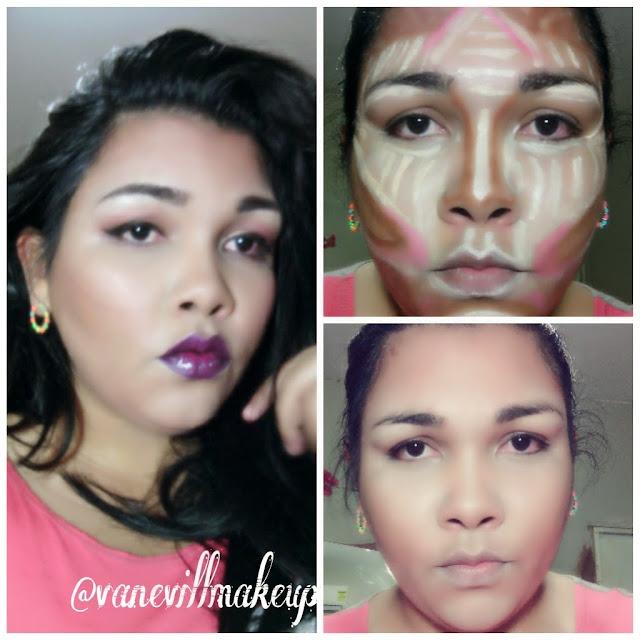 maquillaje con correccion para rostro redondo