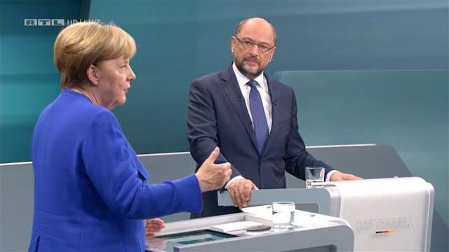 German federal election: Angela Merkel, Martin Schulz face off on TV