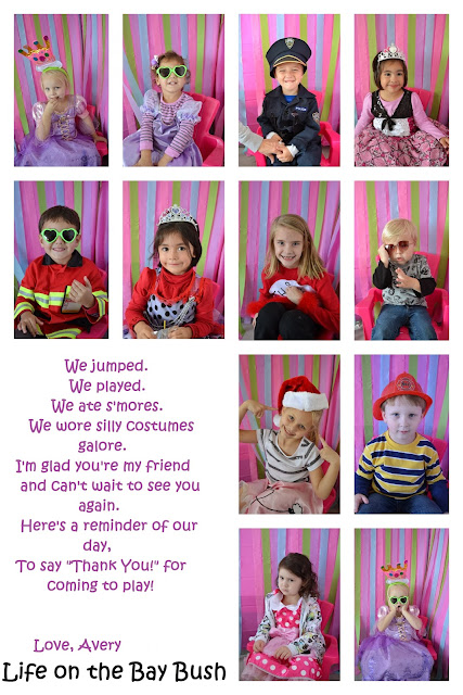 Photo Booth Thank You Card